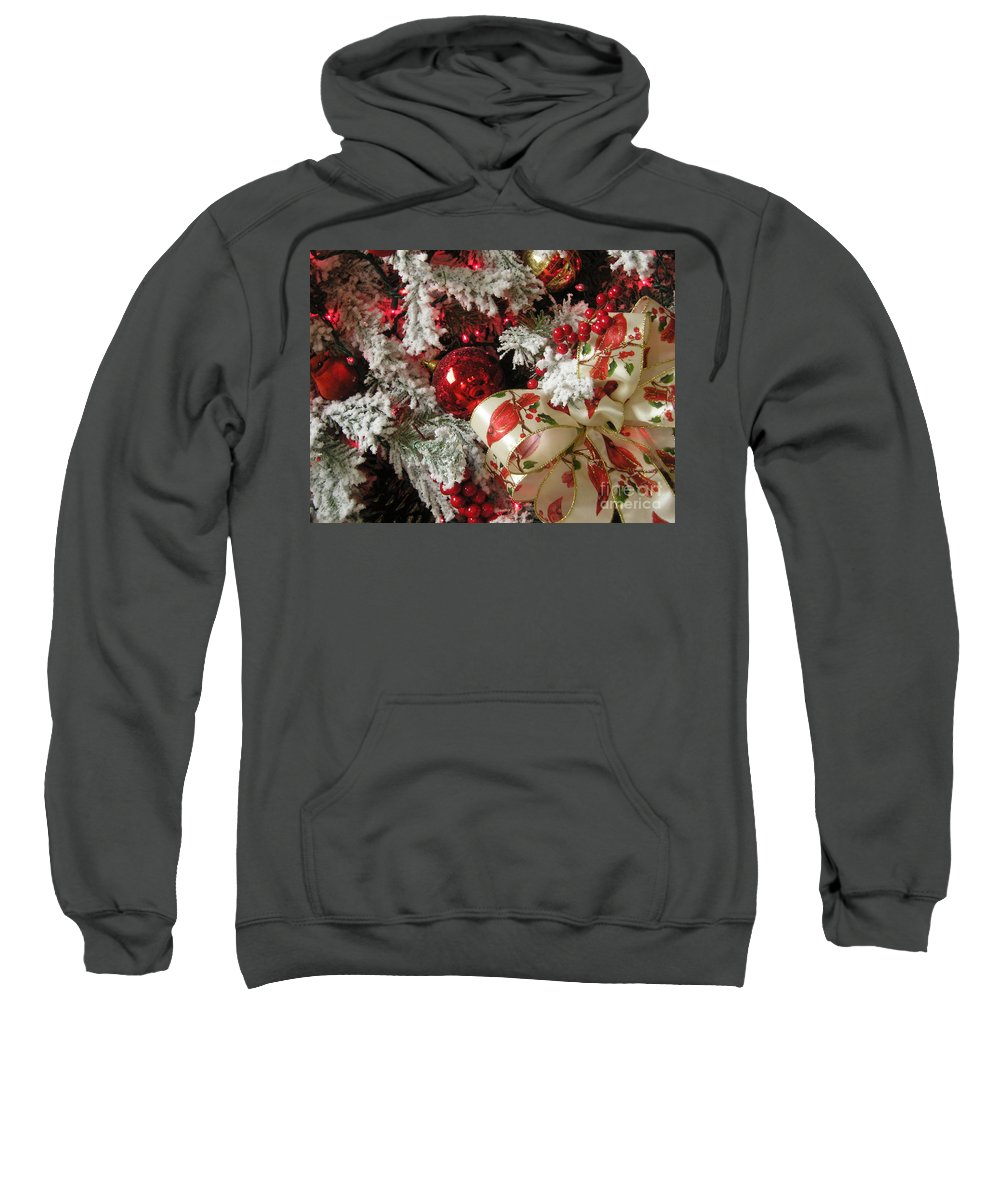 Tree Sweatshirt featuring the photograph Holiday Cheer I by Maria Bonnier-Perez