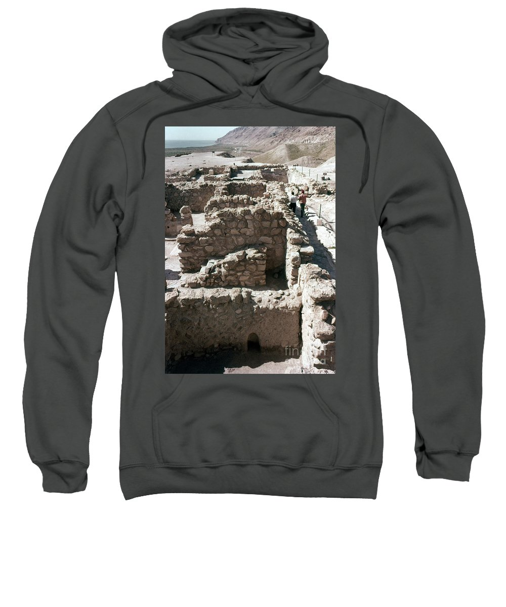 Ancient Sweatshirt featuring the photograph Holy Land: Qumran Ruins by Granger
