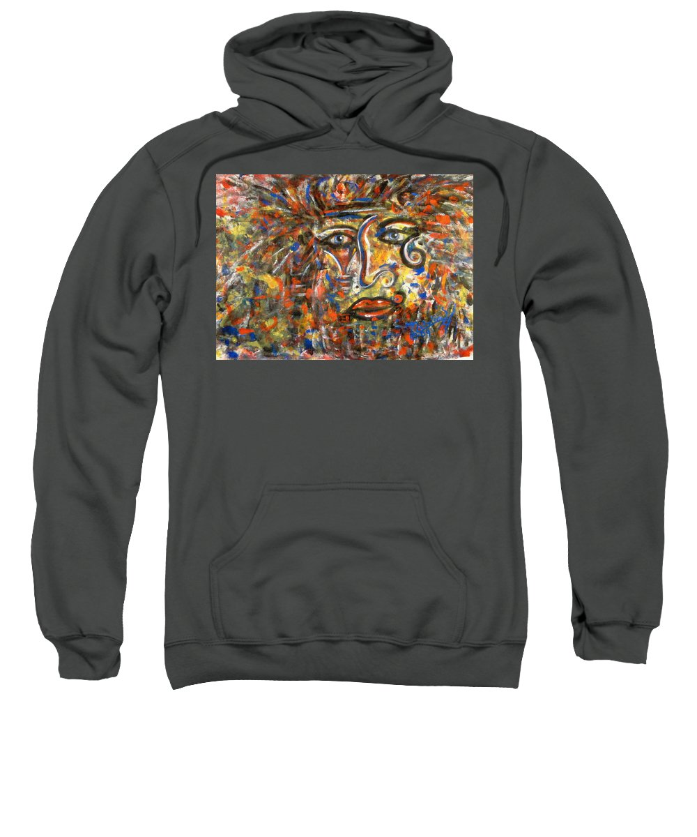 Free Expressionism Sweatshirt featuring the painting Holy Man by Natalie Holland