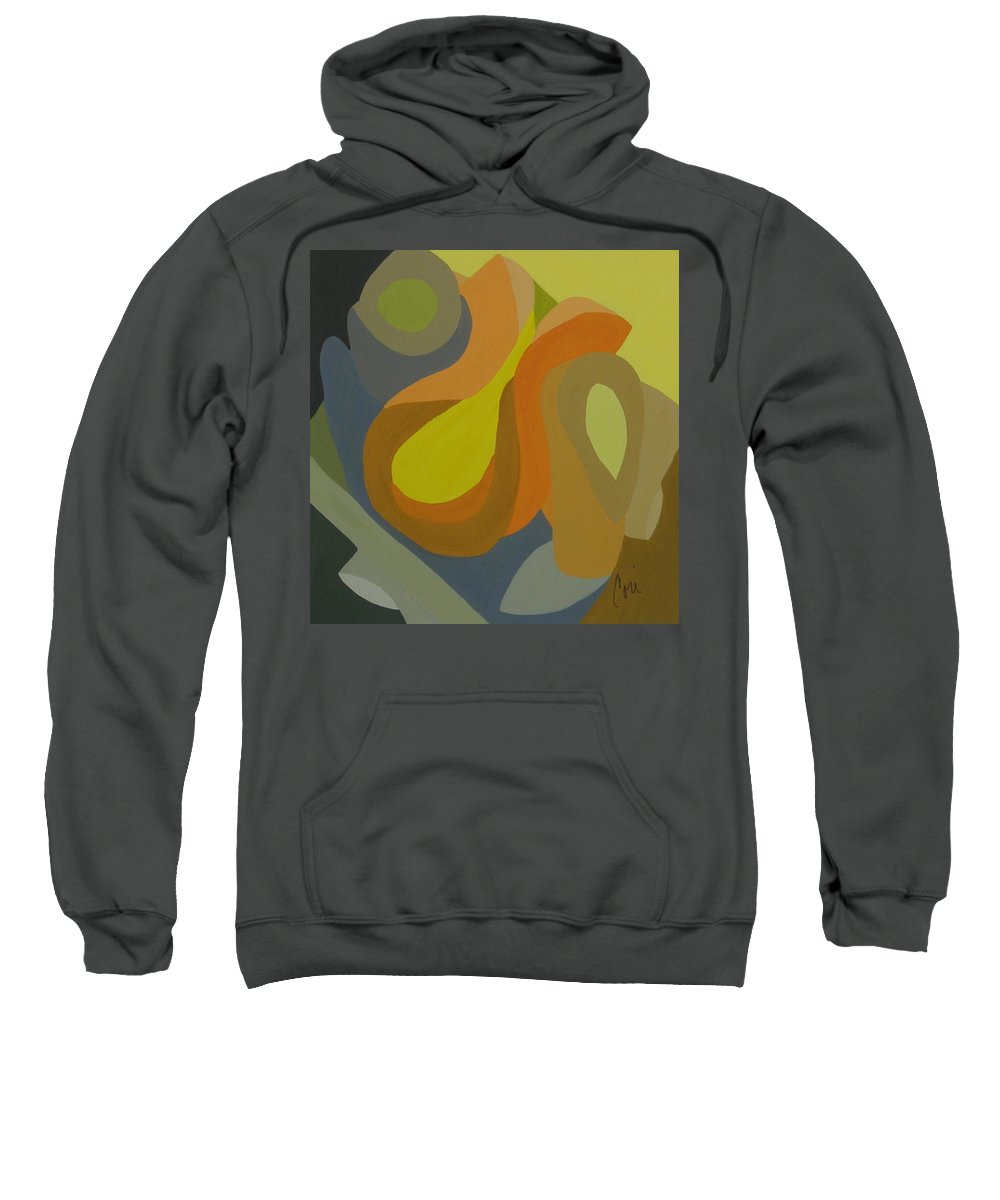 Abstract Sweatshirt featuring the painting Homage To The 70's by Cori Solomon