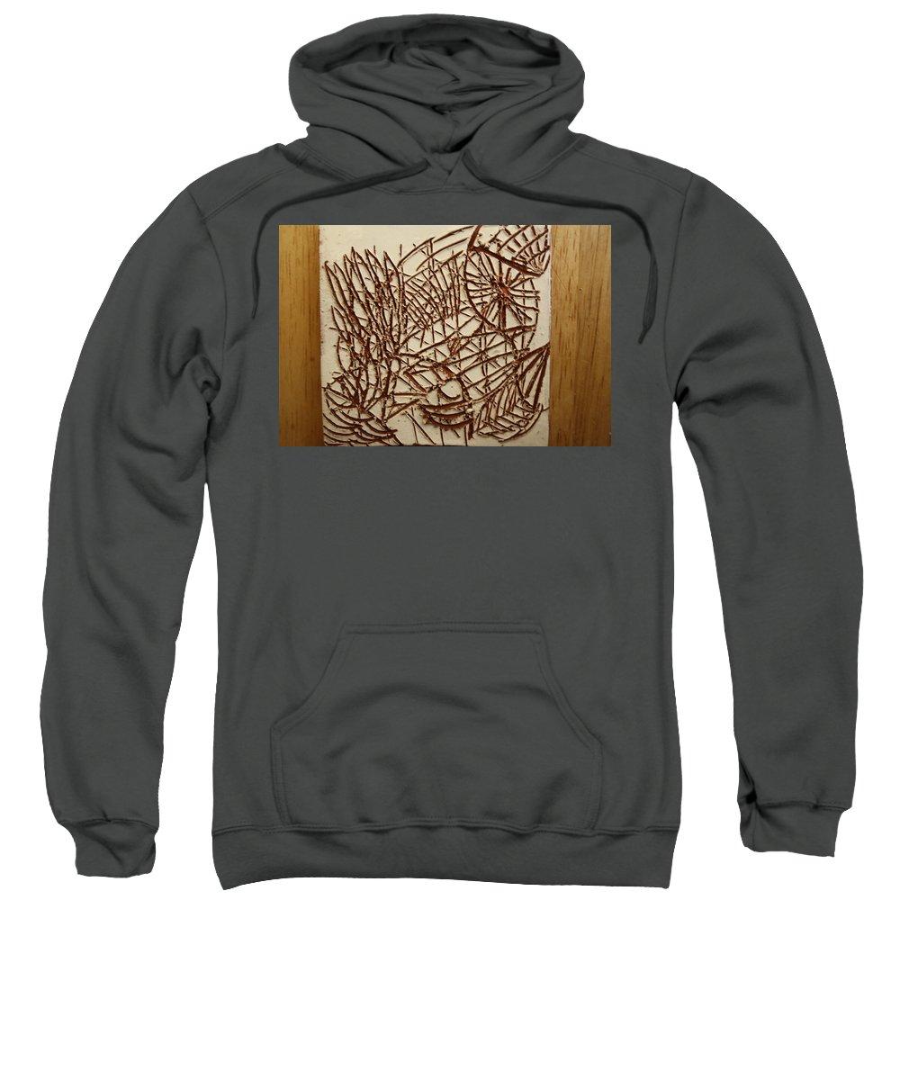Jesus Sweatshirt featuring the ceramic art Home - Tile by Gloria Ssali