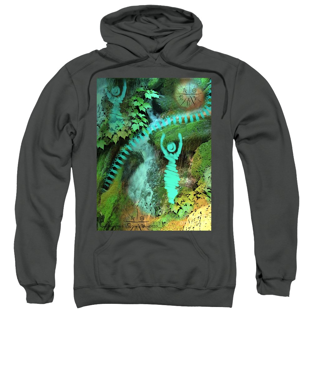 Fantasy Sweatshirt featuring the digital art Home Awaits Me by Cyndy DiBeneDitto