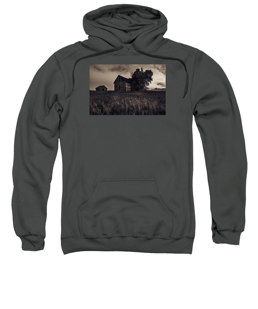 Abandoned Sweatshirt featuring the photograph Home No More by Nebojsa Novakovic
