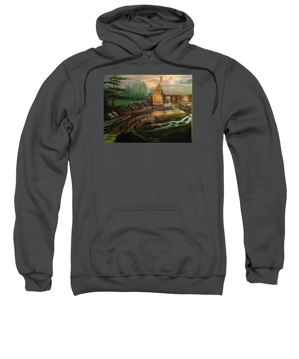 Landscape Sweatshirt featuring the painting Home Sweet Home by Michael Lee
