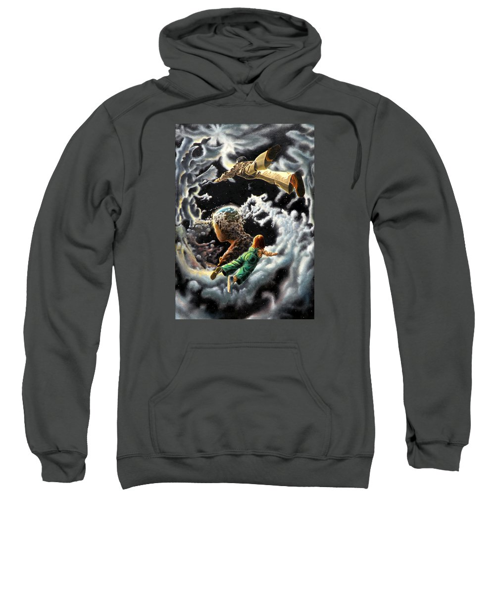 Fantasy Sweatshirt featuring the painting Homecoming by Dave Martsolf