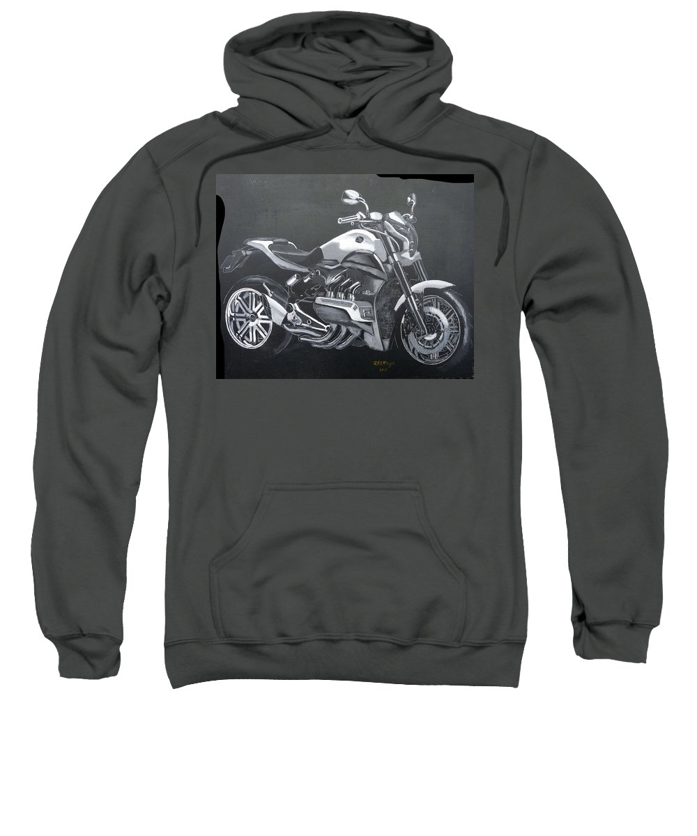 Honda Sweatshirt featuring the painting Honda Concept Evo 6 by Richard Le Page
