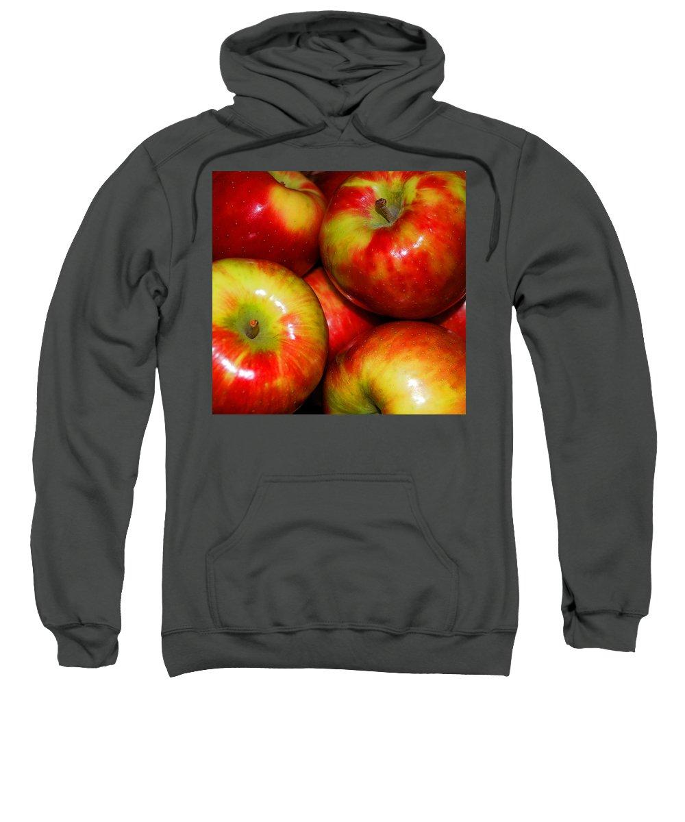 Apple Sweatshirt featuring the photograph Honeycrisp Apples by Nancy Mueller