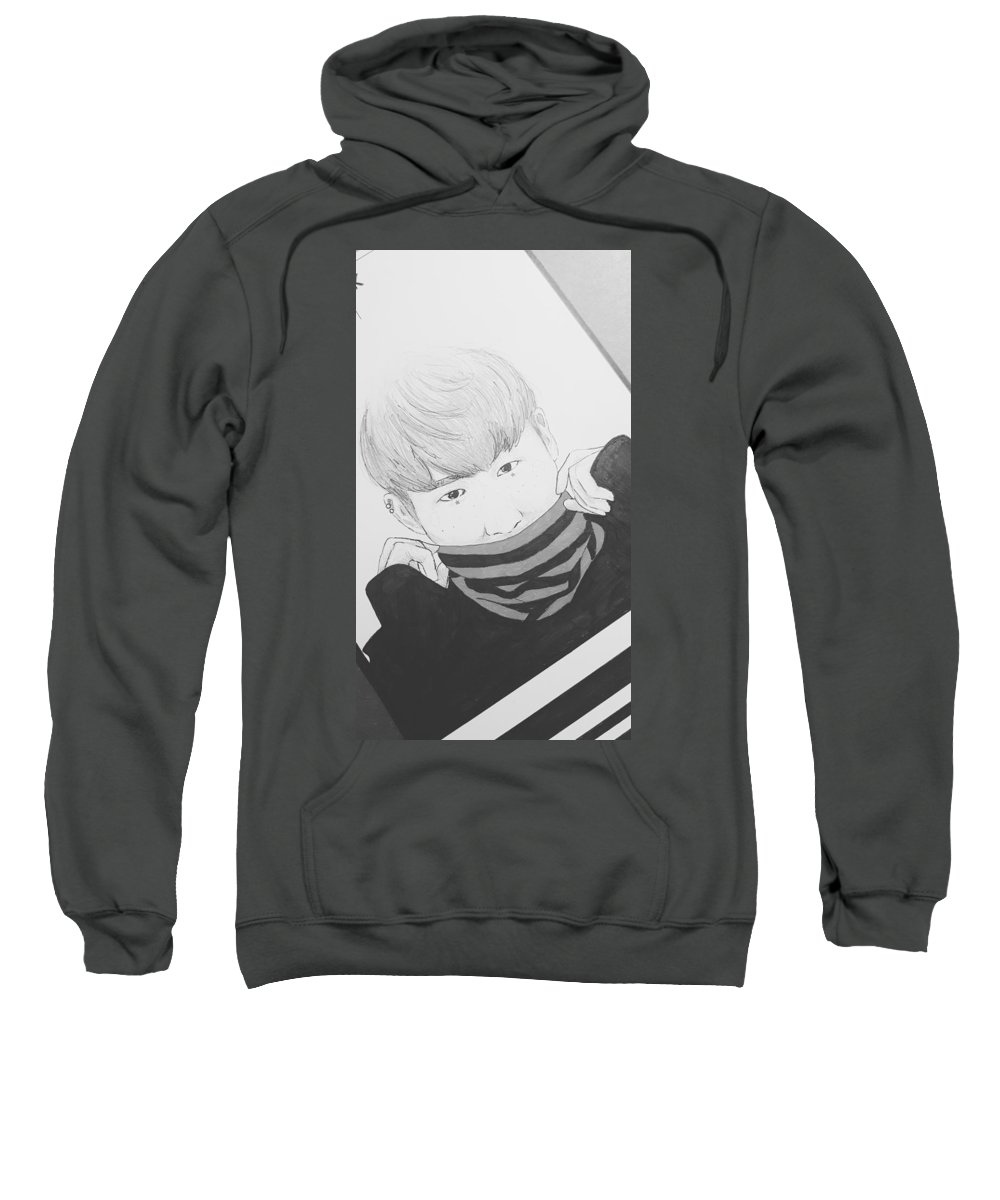 Sweatshirt featuring the drawing Hongseobi by Bingo