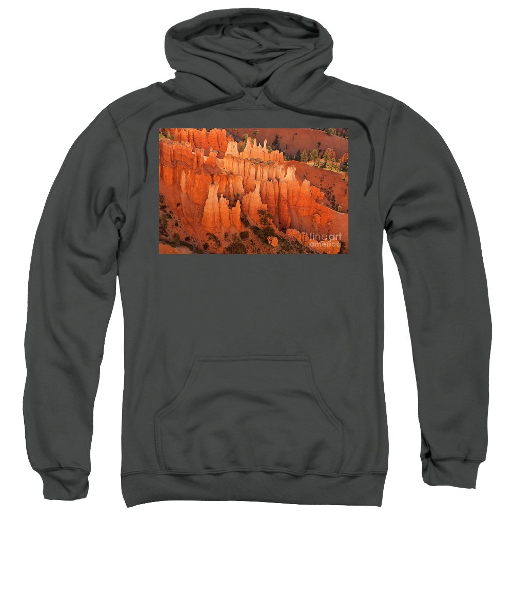 Hoodoos Sweatshirt featuring the photograph Hoodoos At Sunrise Bryce Canyon National Park Utah by Dave Welling