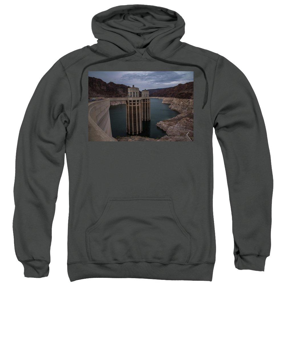Hoover Dam Sweatshirt featuring the photograph Hoover Dam by Bob Cuthbert