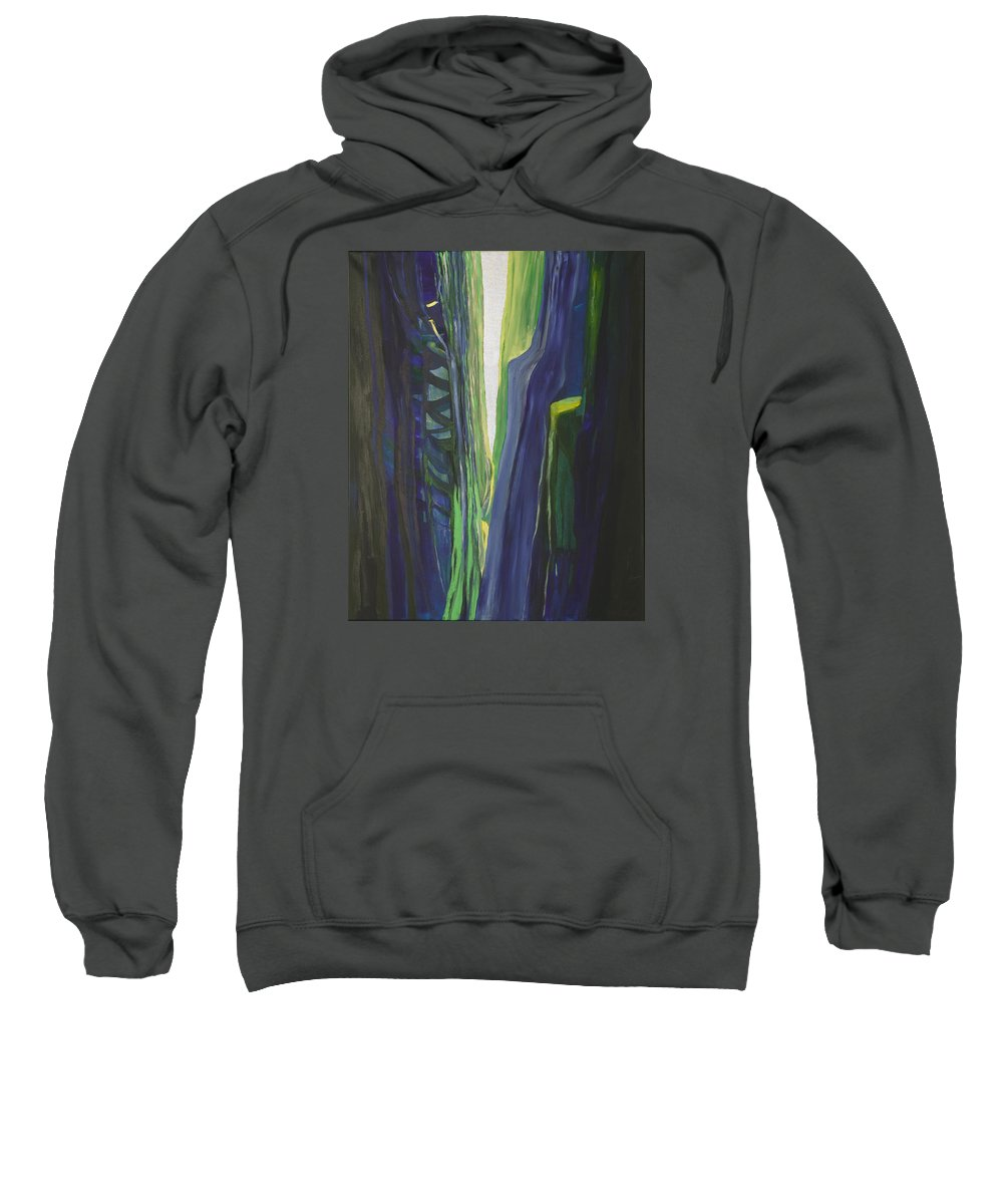 Landscape Sweatshirt featuring the painting Hope. by Jarle Rosseland