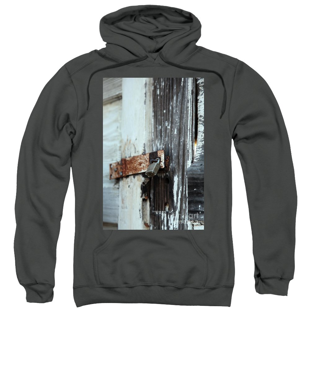 hopelessly Locked Sweatshirt featuring the photograph Hopelessly Locked by Amanda Barcon