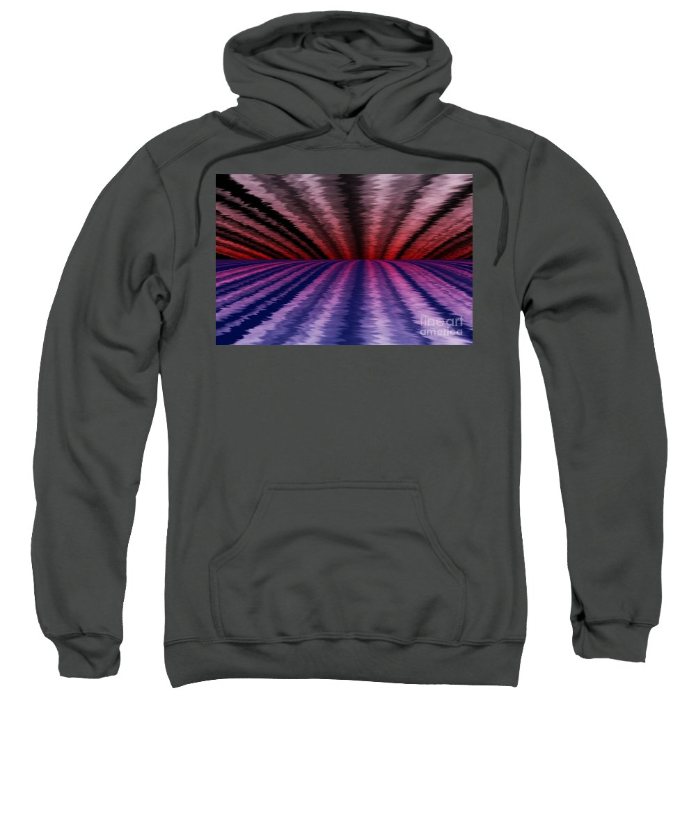 Abstract Sweatshirt featuring the digital art Horizon by David Lane