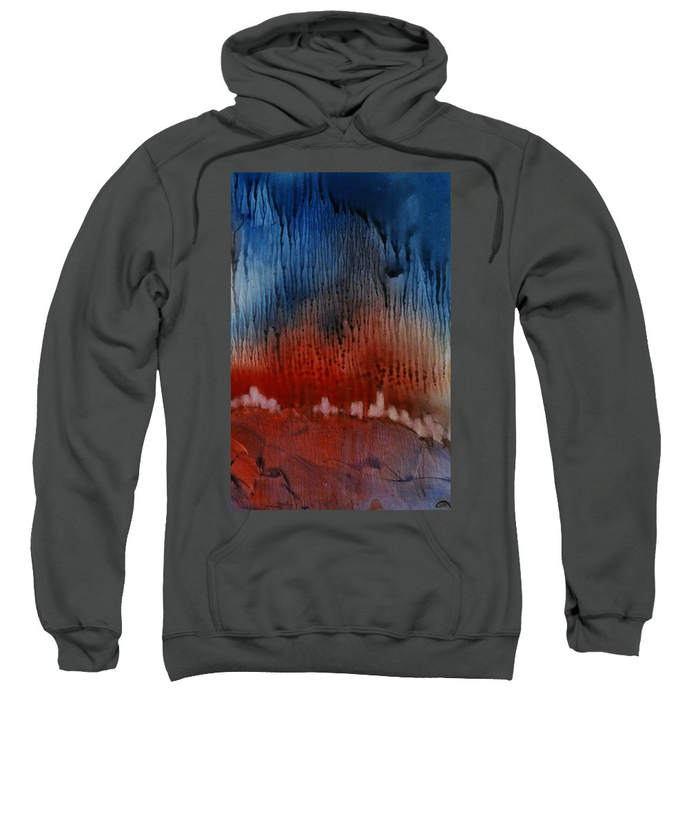 Western Sweatshirt featuring the painting Horizon by Janice Nabors Raiteri