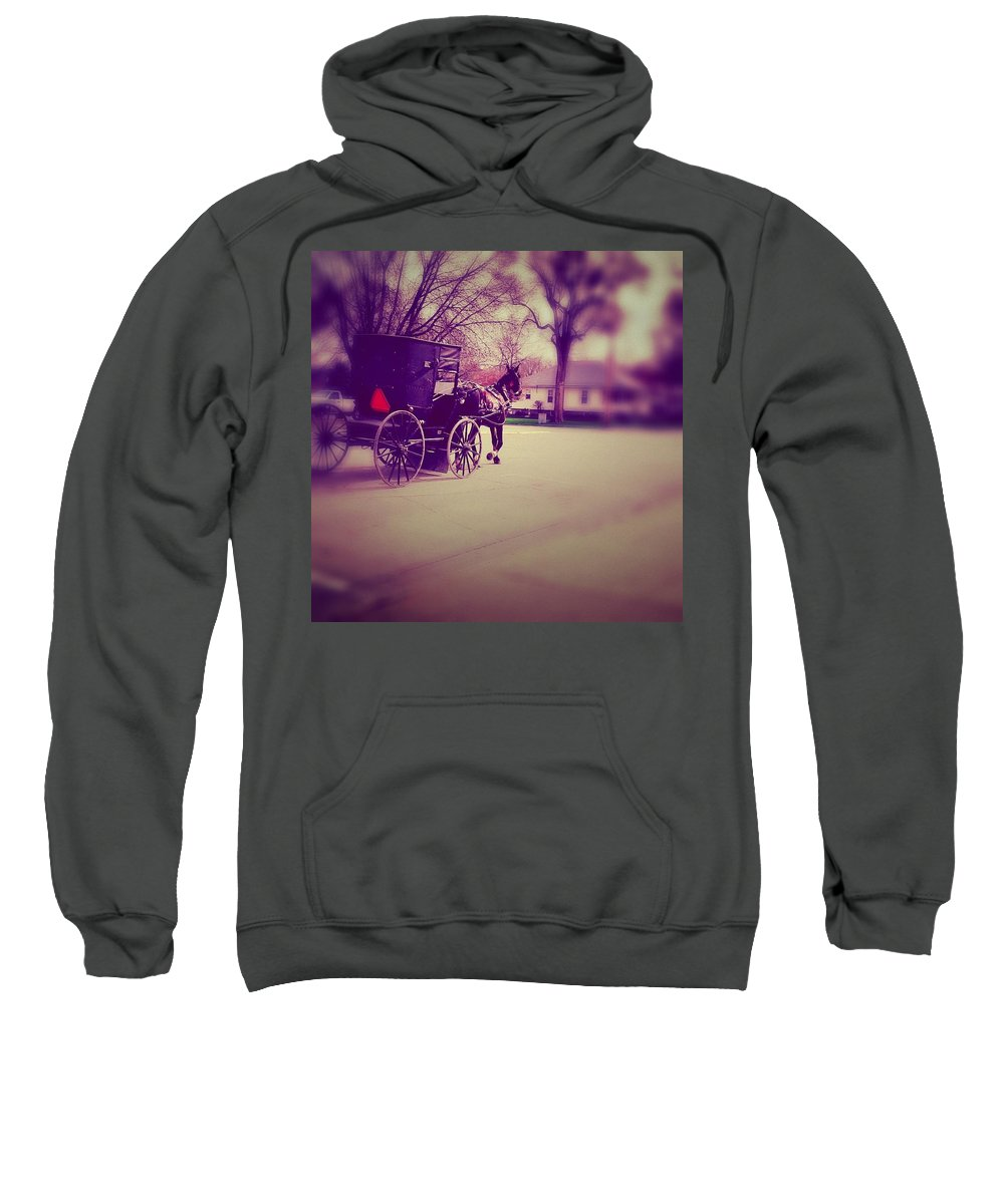 Photography Sweatshirt featuring the photograph Horse Power by Cassie Peters