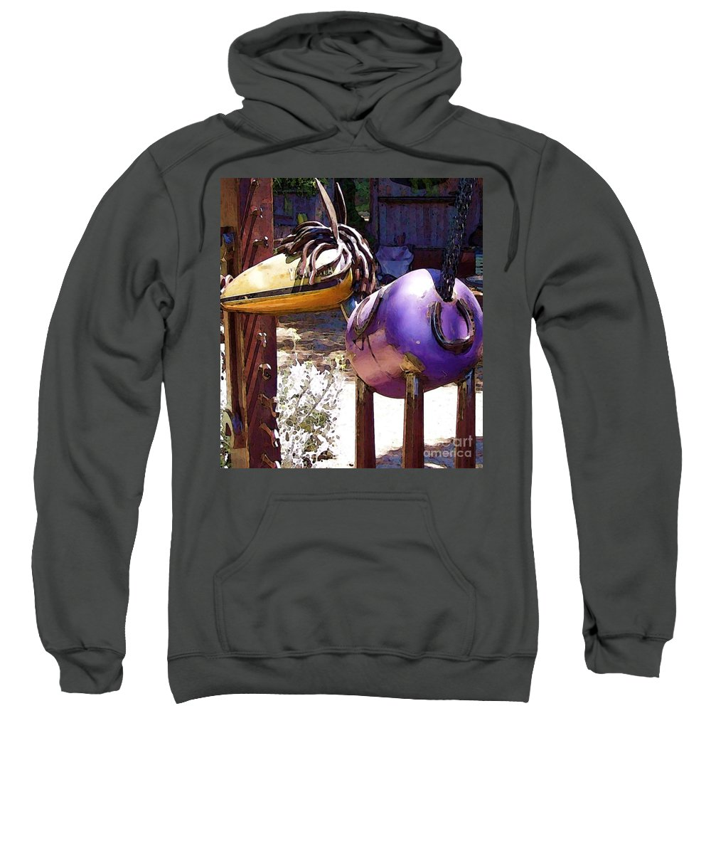 Sculpture Sweatshirt featuring the photograph Horse With No Name by Debbi Granruth