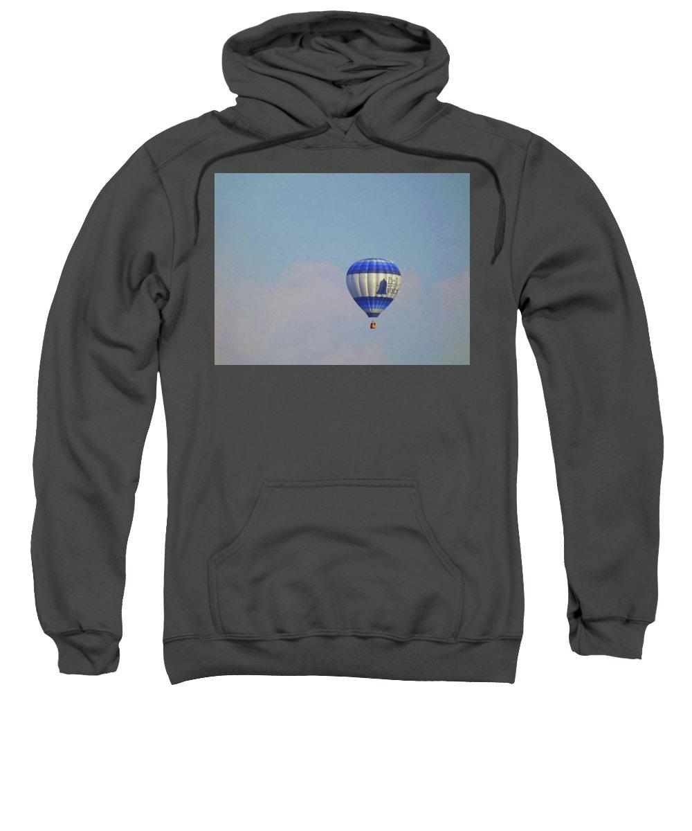 Rental Sweatshirt featuring the photograph Hot Air Ballon by Joseph F Safin