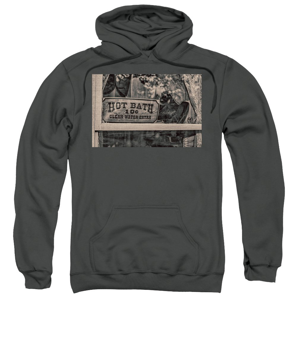 Western Sweatshirt featuring the photograph Hot Bath by Pamela Williams