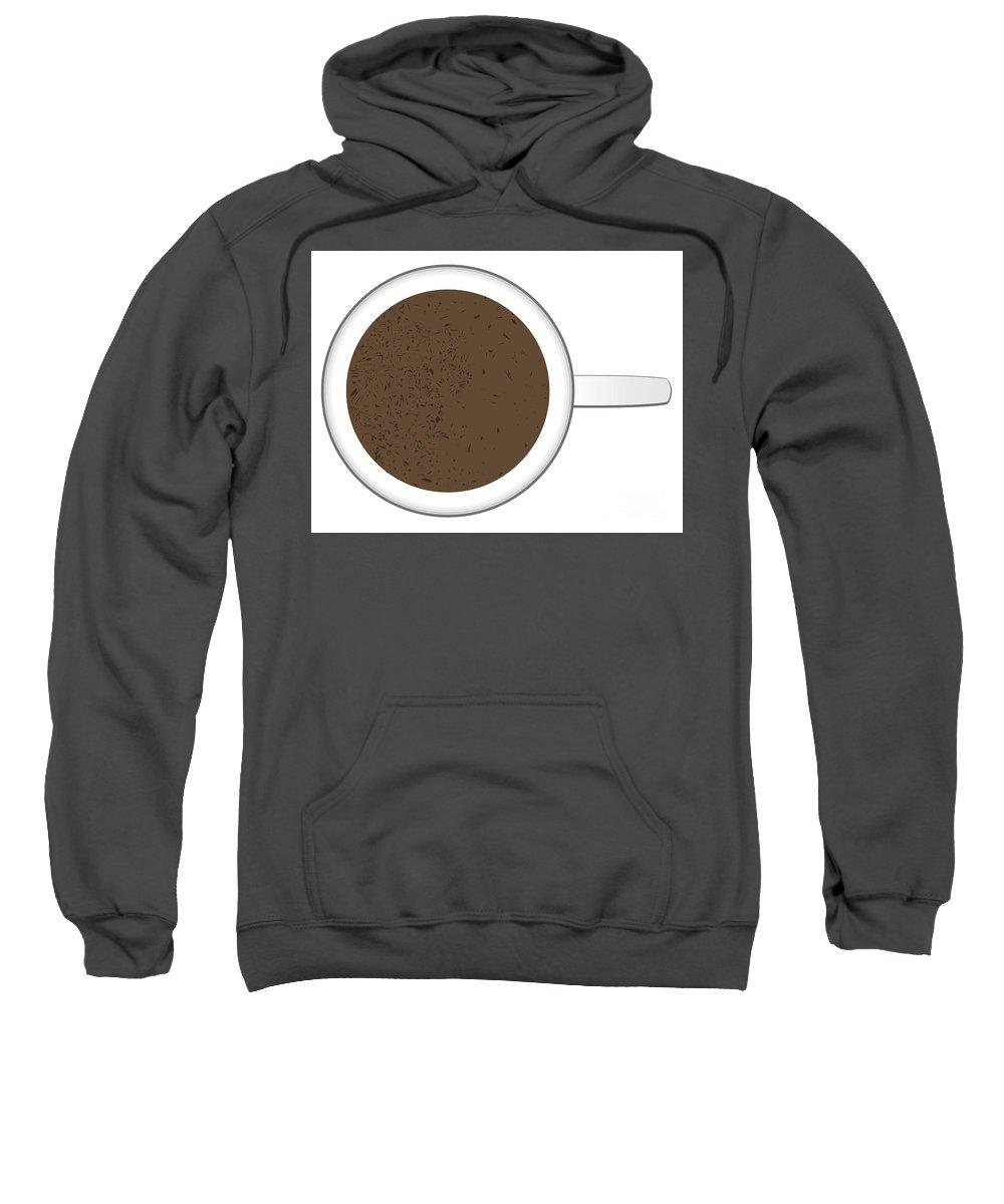 Hot Sweatshirt featuring the digital art Hot Chocolate Mug With Chocolate Sprinkles by Bigalbaloo Stock