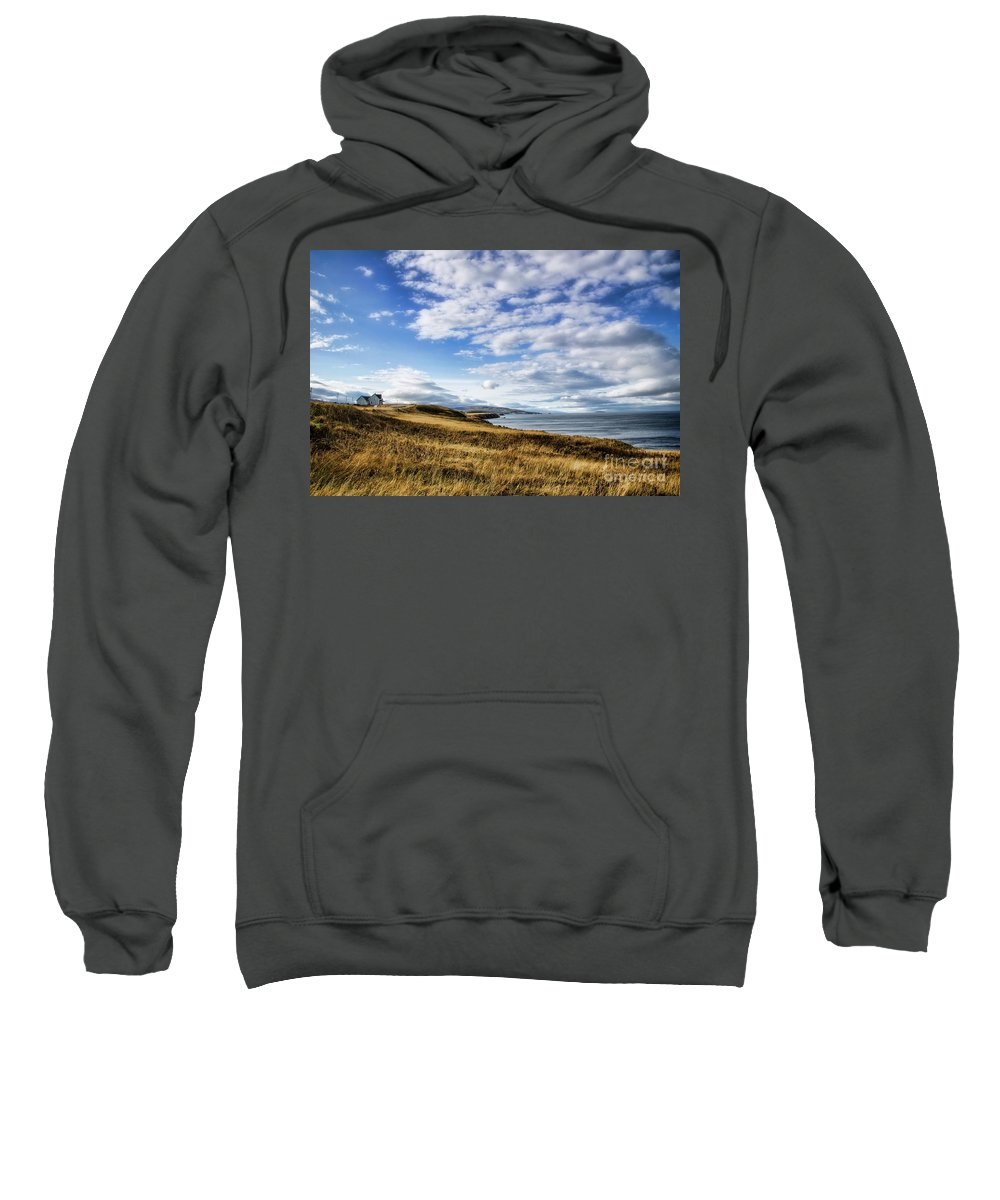 Nova Scotia Sweatshirt featuring the photograph House On The Coast by Scott Kemper