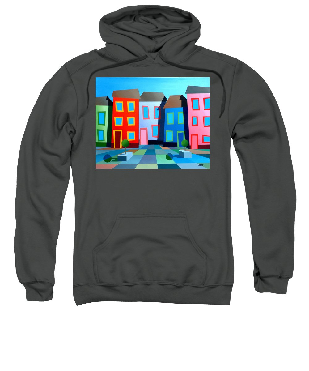 Dylan Cotton Sweatshirt featuring the painting House Party 8 by Dylan Cotton