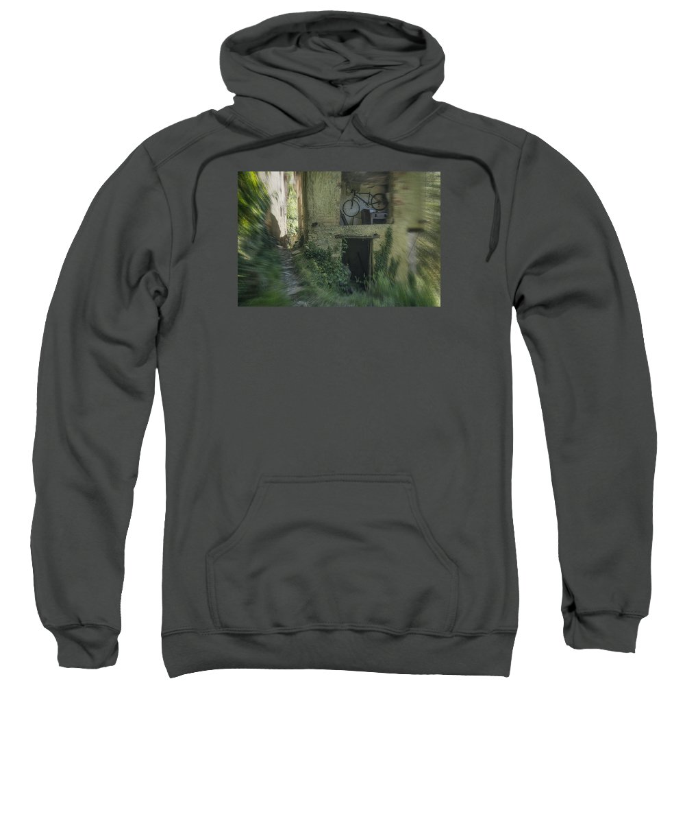 Architettura Sweatshirt featuring the photograph House With Bycicle by Enrico Pelos
