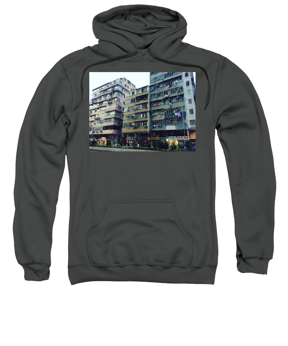Hongkong Sweatshirt featuring the photograph Houses Of Kowloon by Florian Wentsch