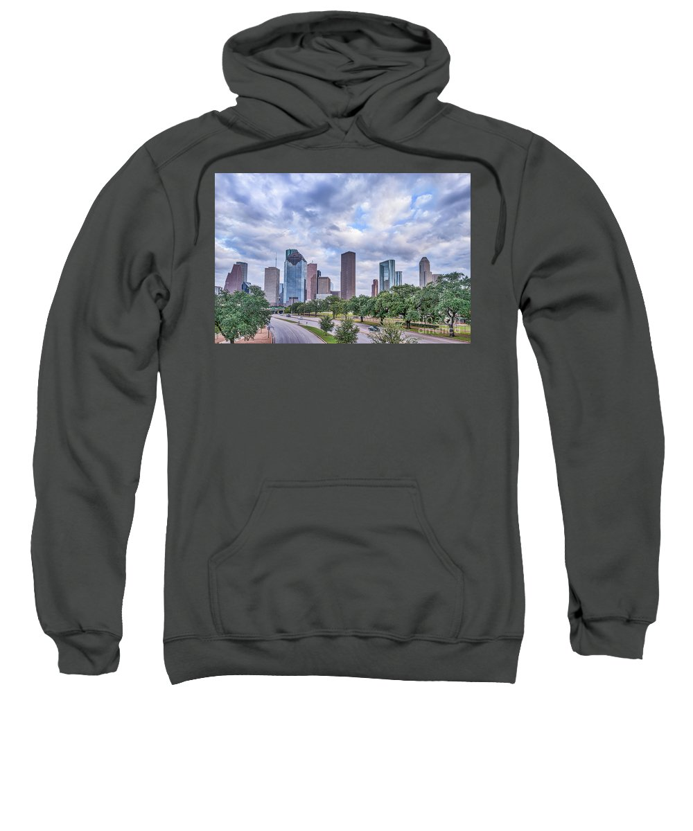Houston Sweatshirt featuring the photograph Houston Skyline View by Tod and Cynthia Grubbs