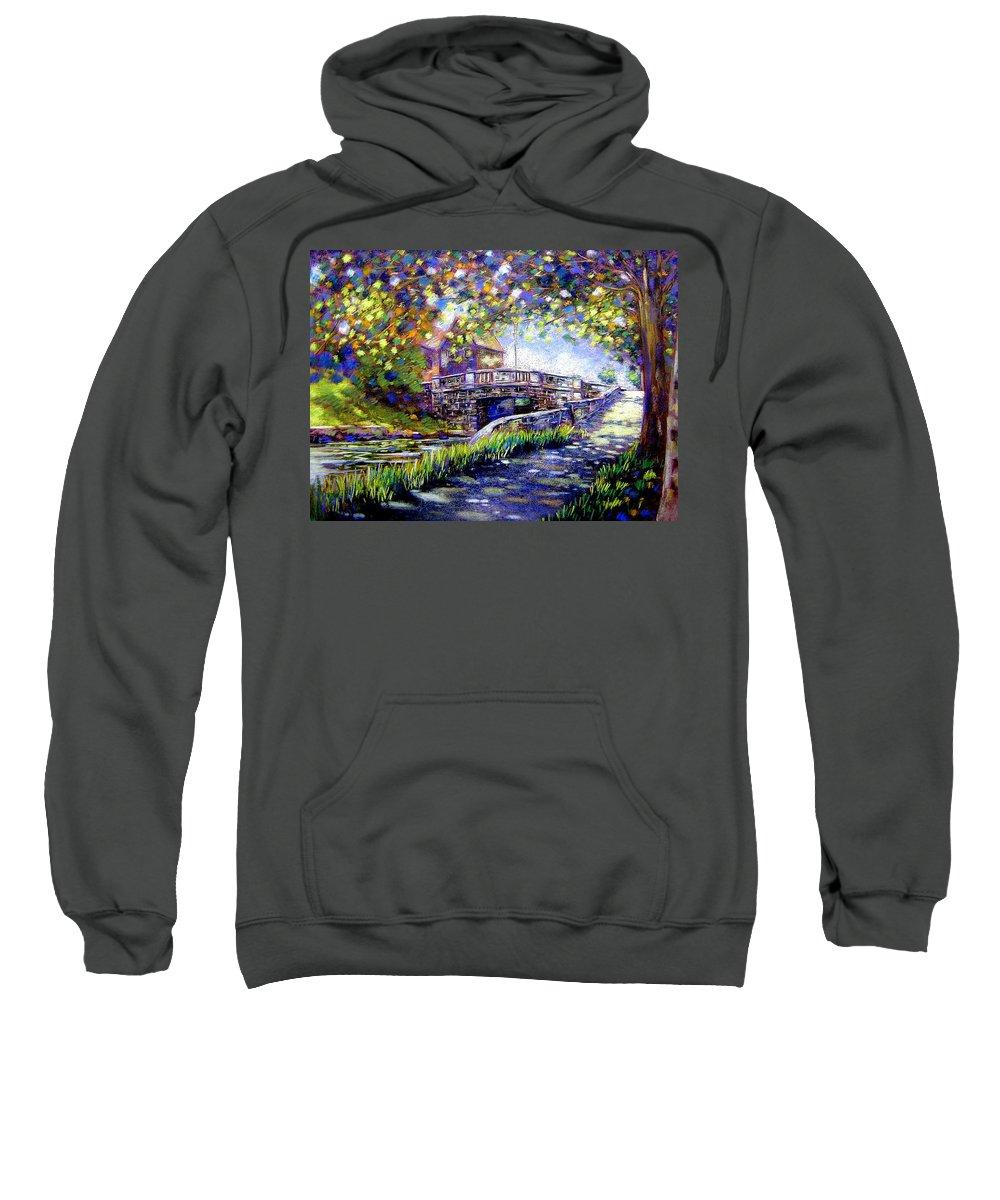 Pastel Sweatshirt featuring the pastel Huband Bridge Dublin City by John Nolan