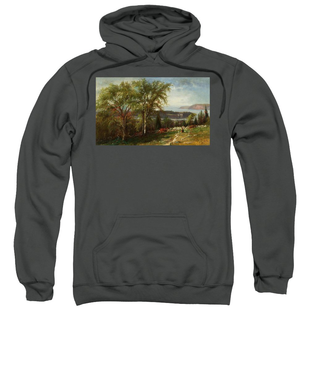 American Art Sweatshirt featuring the painting Hudson River At Croton Point by Julie Beers