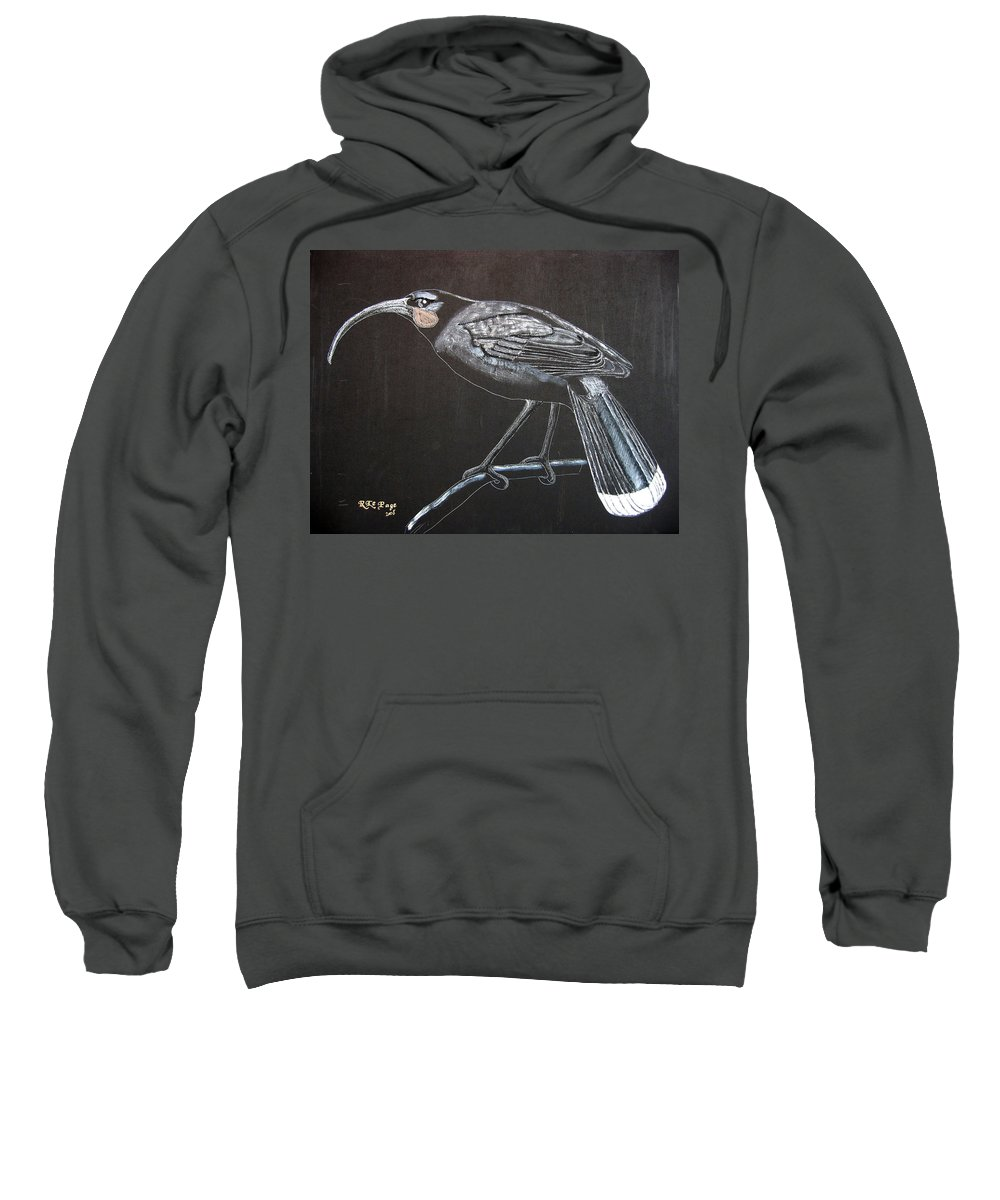 Huia Sweatshirt featuring the painting Huia by Richard Le Page