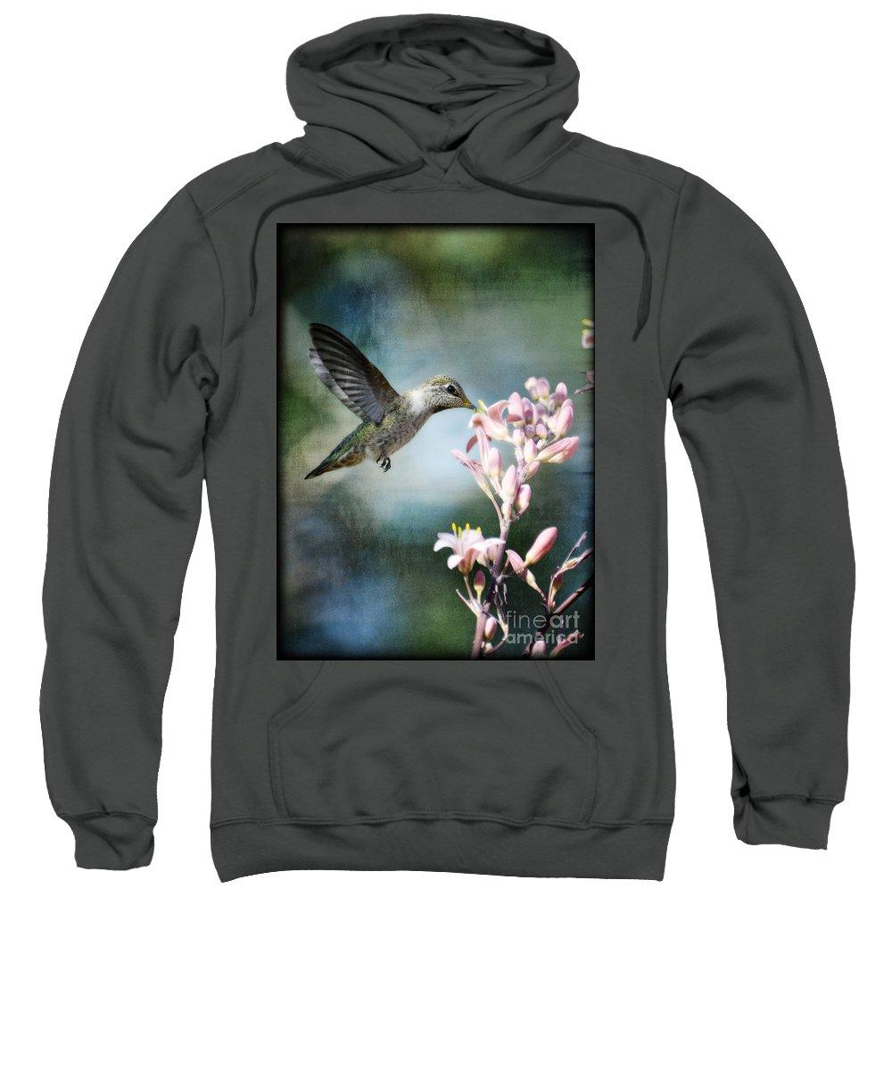 Hummingbird Sweatshirt featuring the photograph Hummingbird by Saija Lehtonen