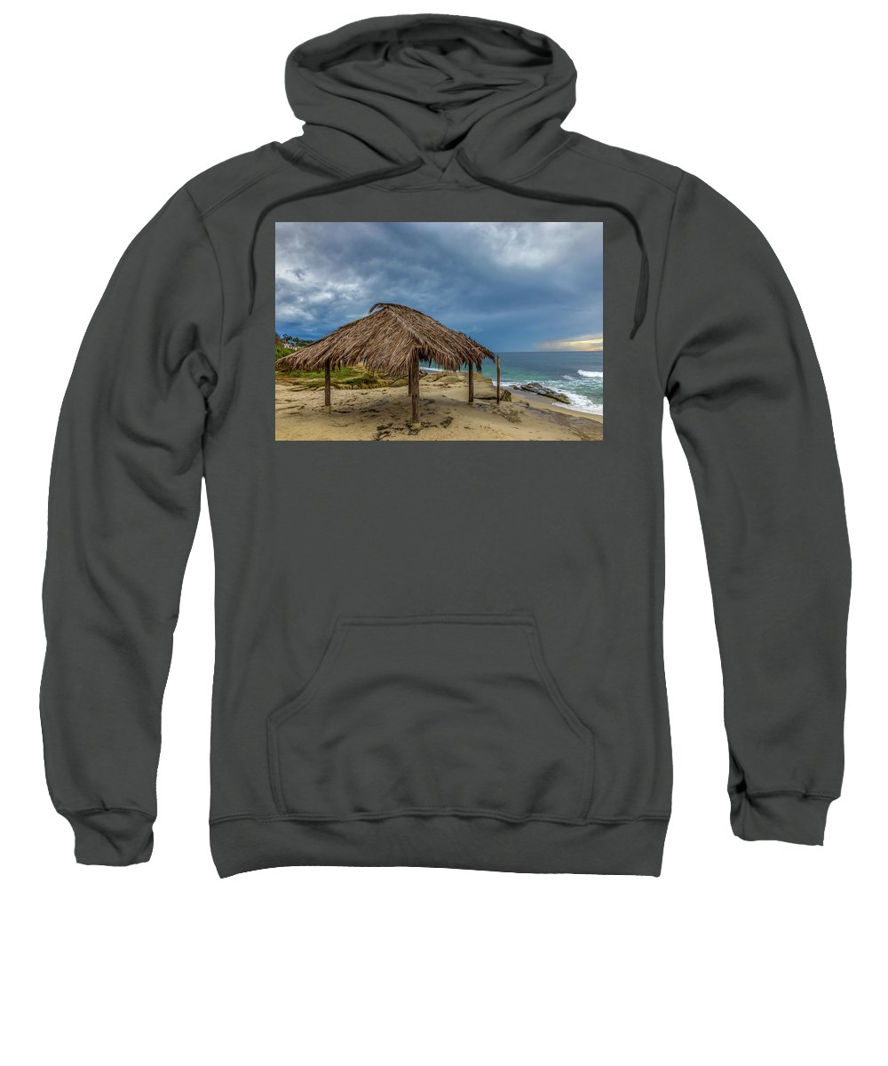 Beach Sweatshirt featuring the photograph Hut by Peter Tellone