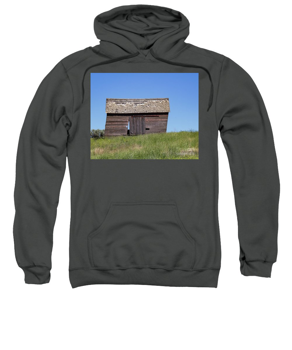 Shed Sweatshirt featuring the photograph Hwy 2-3266 by Roger Patterson