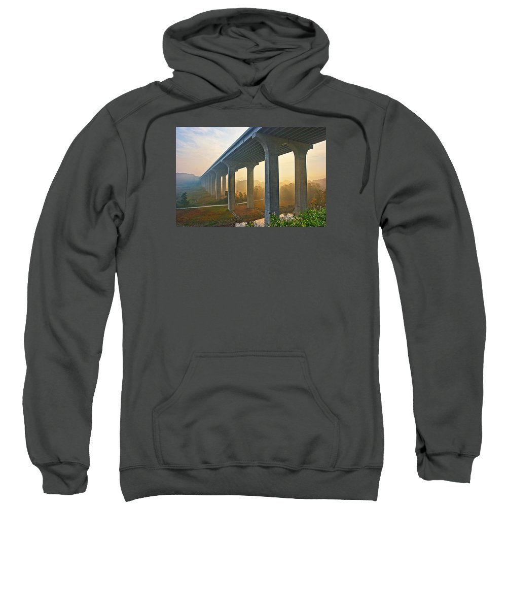 Architecture Sweatshirt featuring the photograph I-80 In Cuyahoga Valley National Park by Marcia Colelli