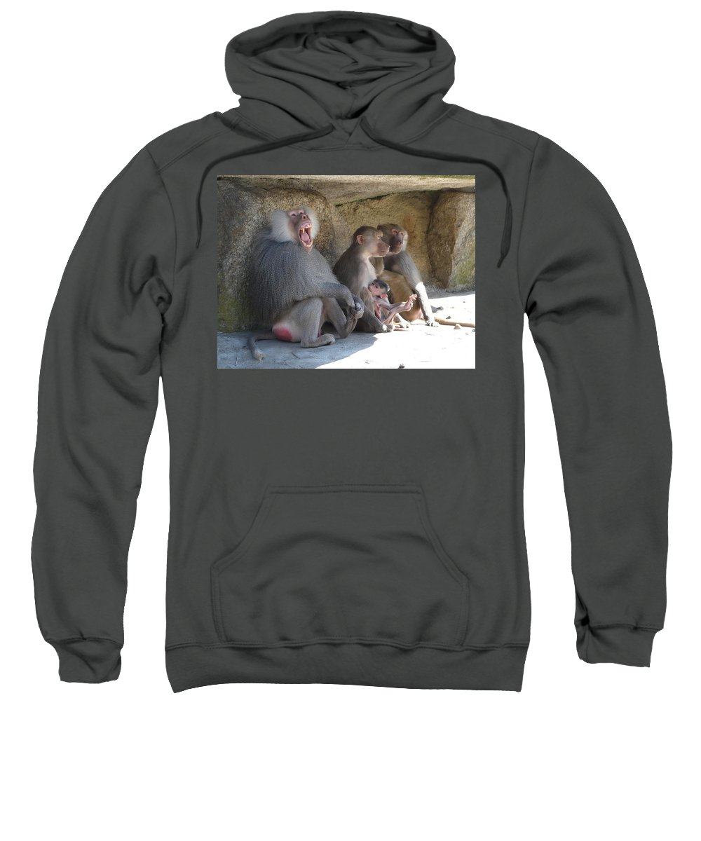 Animal Sweatshirt featuring the photograph I Am The King Here by Valerie Ornstein