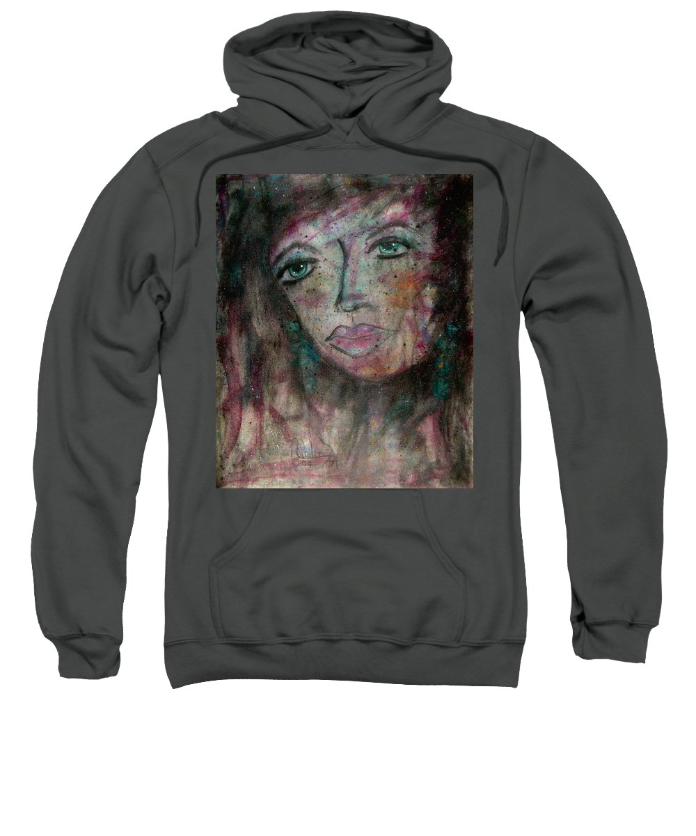 Expressionism Sweatshirt featuring the painting I Am Thinking Of You by Natalie Holland