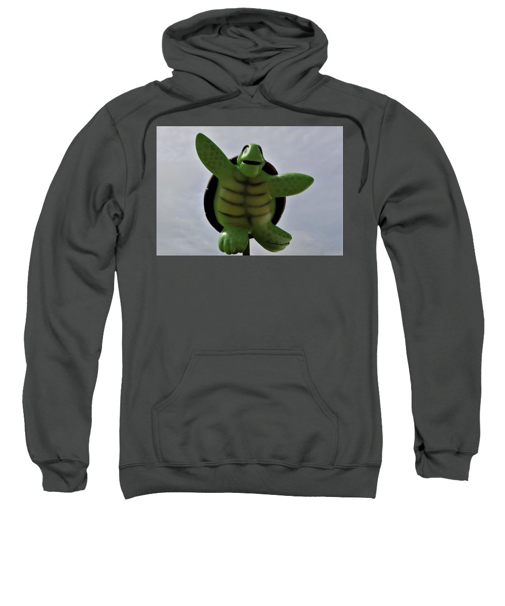 Turtle Sweatshirt featuring the photograph I Can Fly by Christopher James