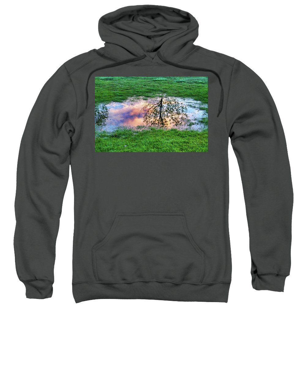 canvas Print Sweatshirt featuring the photograph I Can See China - Hole In The Grass by James BO Insogna