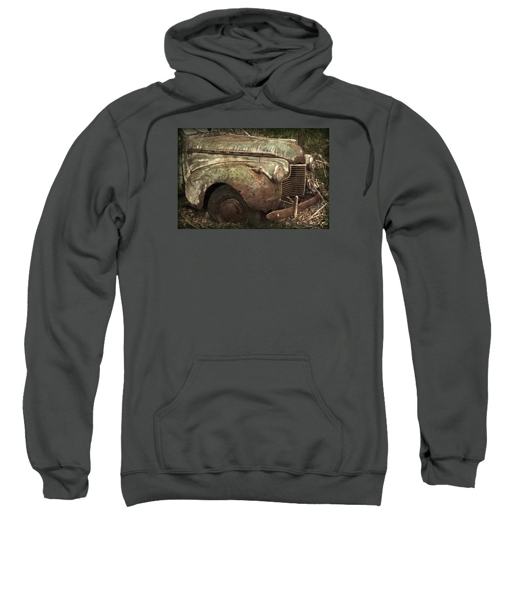 Rustbuckets Sweatshirt featuring the photograph I Could Use A Push by John Stephens