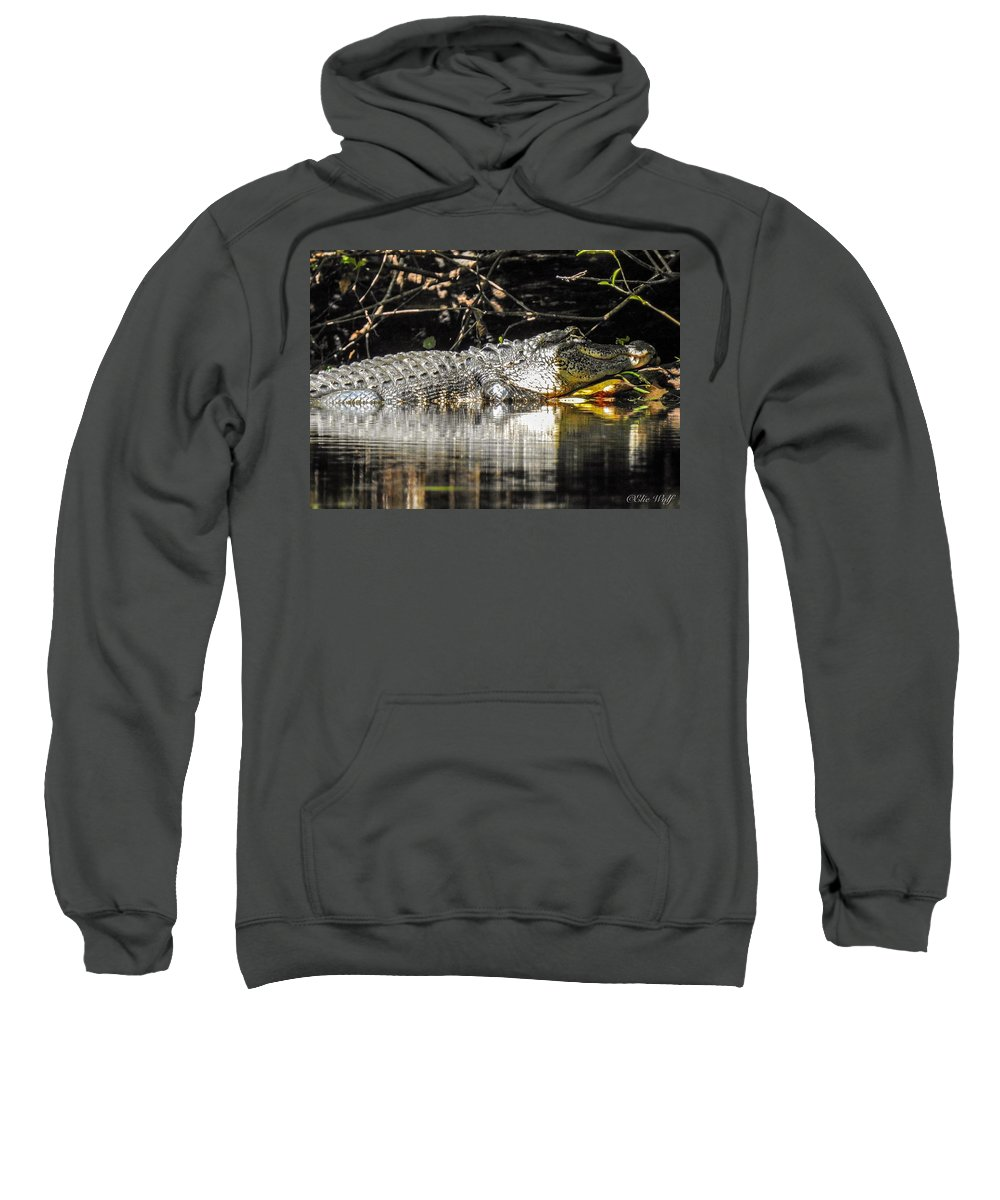 Alligator Sweatshirt featuring the photograph I Got It Made In The Shade by Elie Wolf