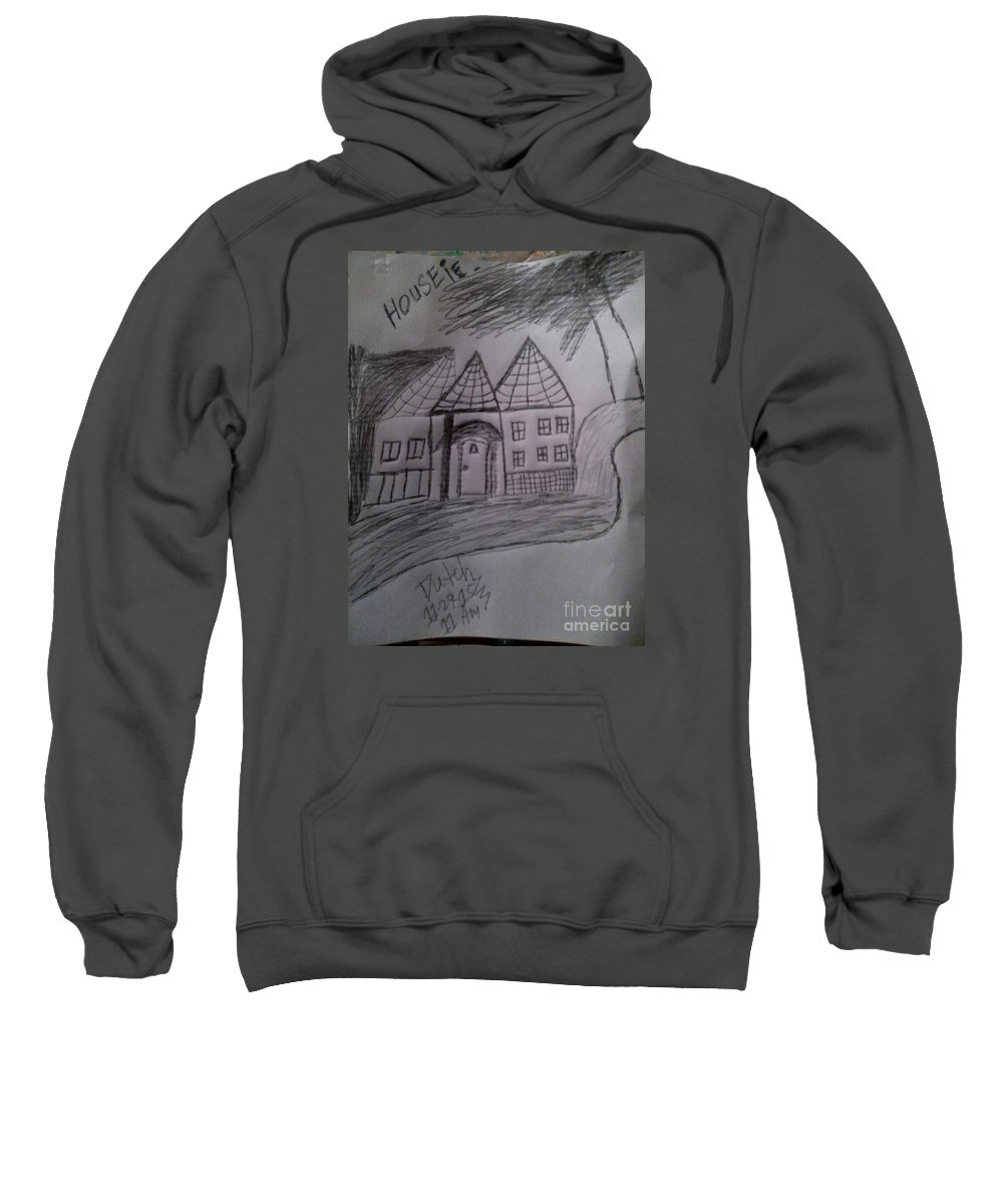 Sweatshirt featuring the painting I Love My , by Dutch MARCHING