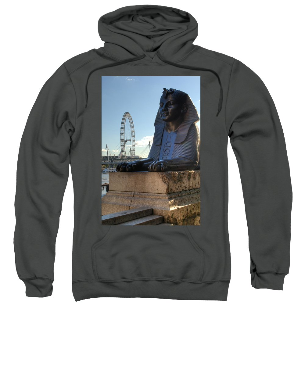 London Eye Sweatshirt featuring the photograph I Sphinx It Is The London Eye by Chris Day
