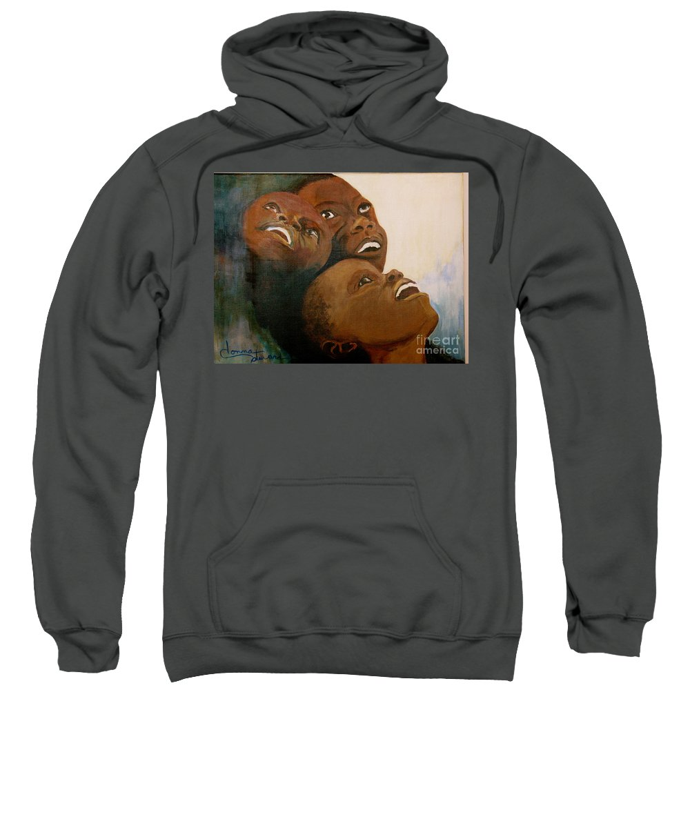 Bahamas Sweatshirt featuring the painting I Will Lift Up My Eyes by Donna Steward