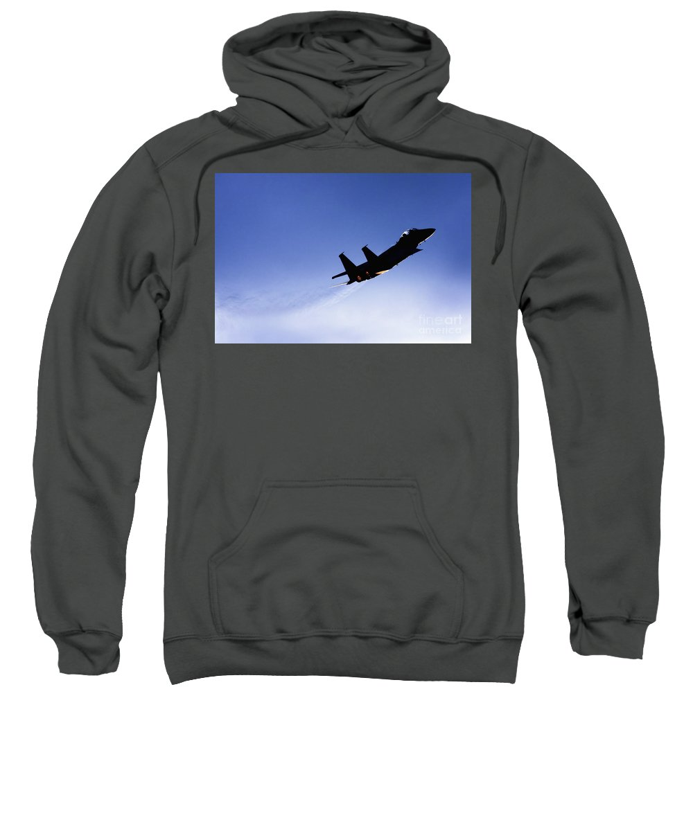 Aircraft Sweatshirt featuring the photograph Iaf F15i Fighter Jet by Nir Ben-Yosef