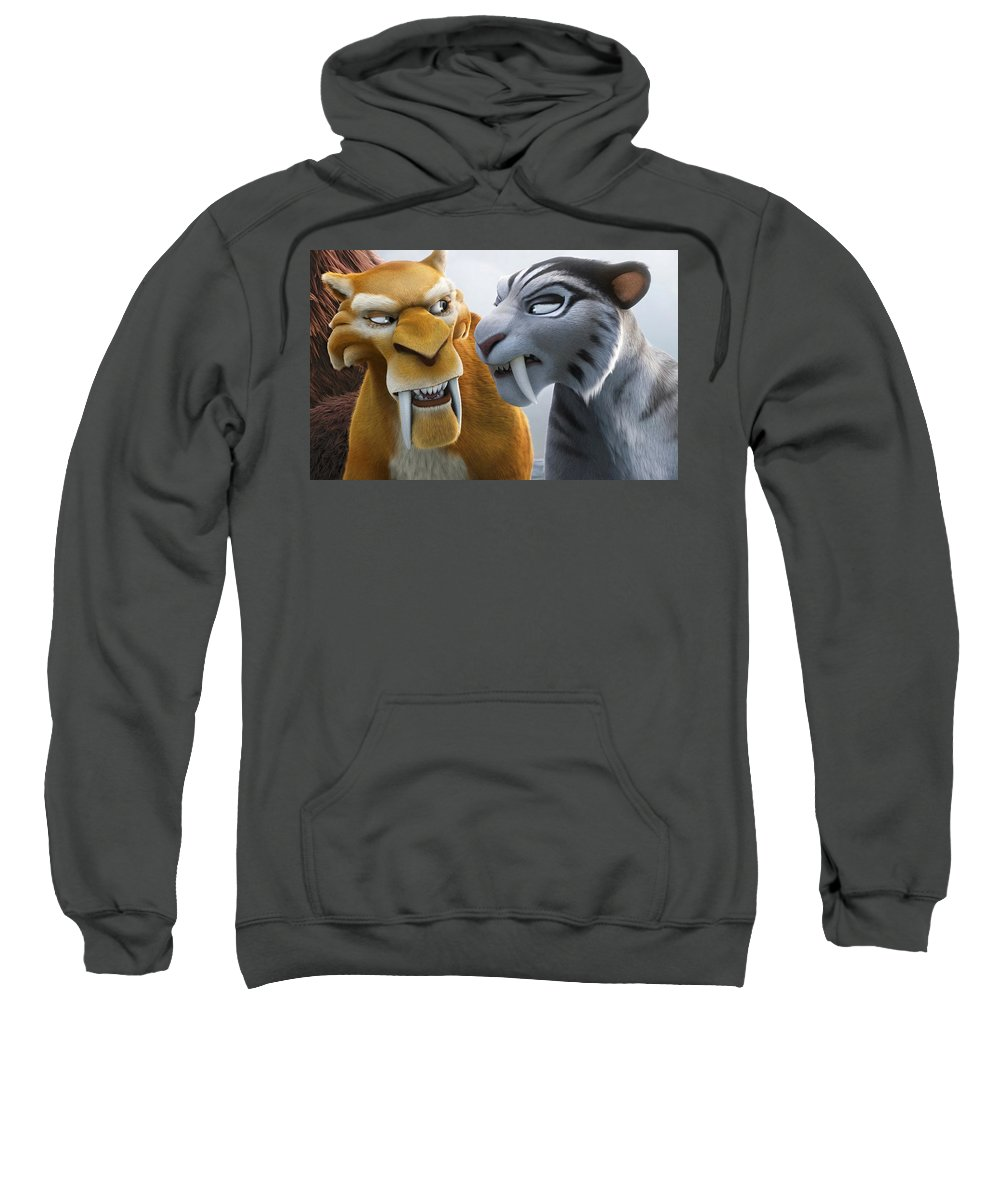 Ice Age Continental Drift Sweatshirt featuring the digital art Ice Age Continental Drift by Bert Mailer