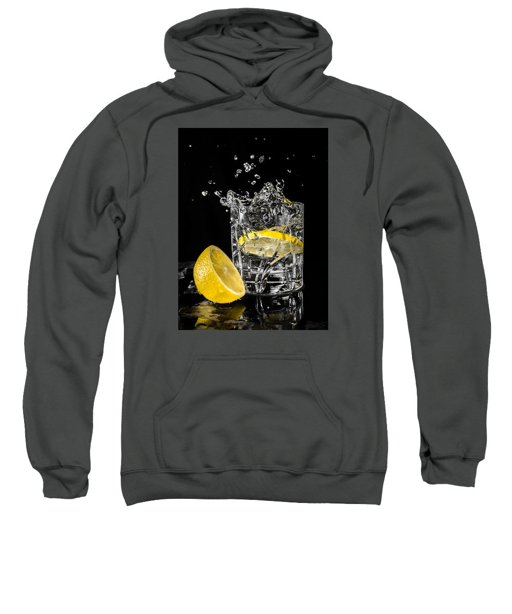 Drink Sweatshirt featuring the photograph Ice And A Slice by Nick Bywater