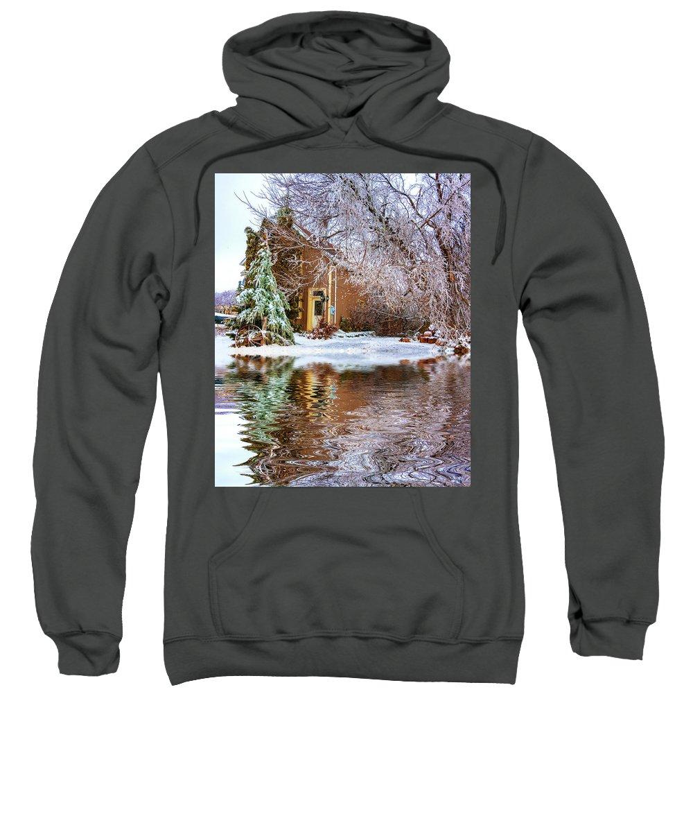 Steve Harrington Sweatshirt featuring the photograph Ice Attack - Paint by Steve Harrington
