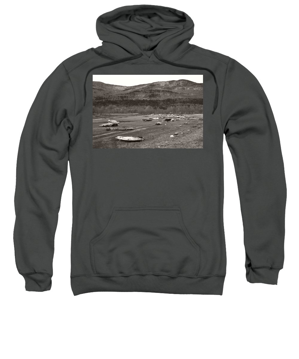 Sweatshirt featuring the photograph Ice Fields by Heather Kirk
