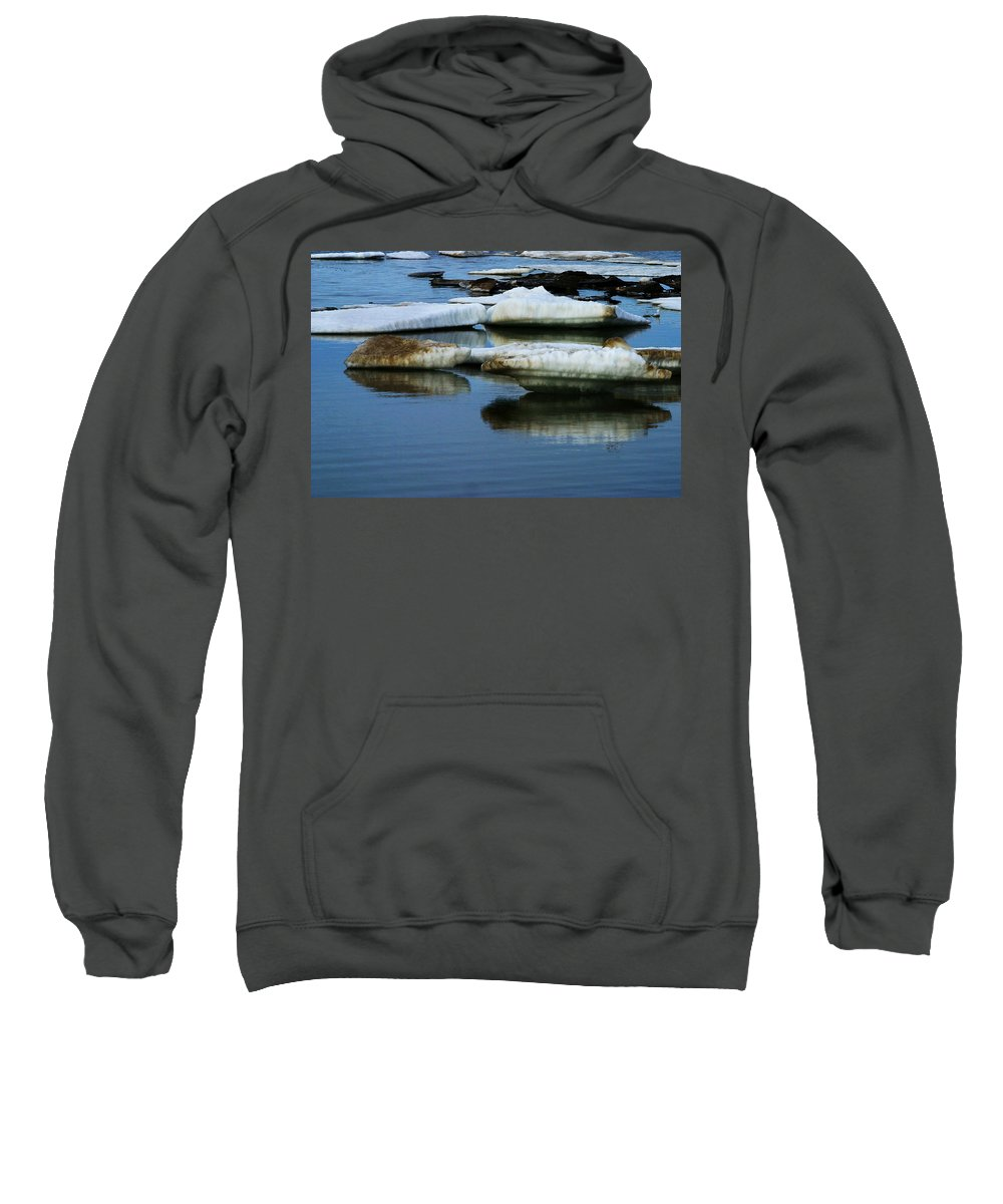 Ice Sweatshirt featuring the photograph Ice In The Arctic by Anthony Jones